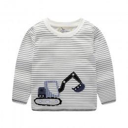 Skoki metrów odzież dla dzieci dinozaury chłopiec bawełna t shirt dla dzieci chłopców ubrania z długim rękawem dla dzieci t-Shir