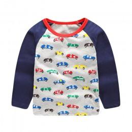 Skoki metrów z długim rękawem chłopcy t-shirty bawełniane zwierzęta drukowane ubrania dla dzieci jesienna bluzka boys baby t-shi