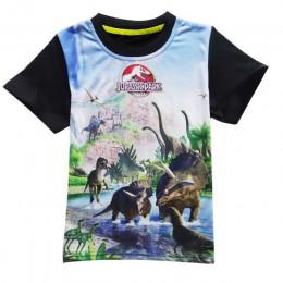 4-11 lat stare dzieci spodenki dla dzieci topy koszulki T Shirt lato nastolatek chłopcy dziewczęta T-Shirt dla dinozaurów letnie