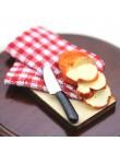 Kuchenka mikrofalowa jedzenie chleb deska do gotowania nóż blok do krojenia 1: 12 1:6 skala miniatura do domu dla lalek udawaj z