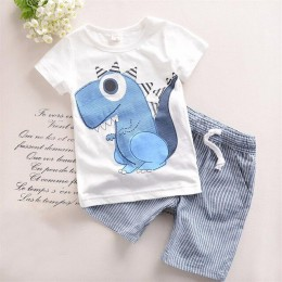 TANGUOANT gorąca sprzedaż marki chłopców odzież dla dzieci letnie chłopcy ubrania kreskówki dla dzieci chłopiec odzież zestaw t-