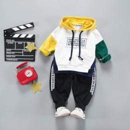 Maluch chłopcy ubrania 2019 jesienne zimowe ubrania dla dzieci z kapturem + spodnie strój dzieci odzież garnitur na zestawy ubra