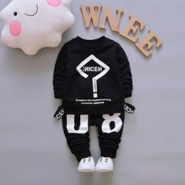 2019 nowa wiosna Boys Baby dres dzieci z długim rękawem Top Leisure Streamers spodnie 2 sztuk odzież dziecięca zestawy dresy spo