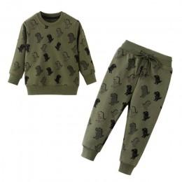 Odzież zimowa dla dzieci Boys Baby odzież z nadrukiem kreskówki zestawy śliczny nadruk królika ciepłe bluzy dla chłopców dziewcz