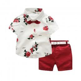 Gorąca sprzedaż 2019 lato styl dzieci odzież ustawia topy szorty pas 3 sztuk zestaw chłopcy dziewczęta T spodnie strój sportowy