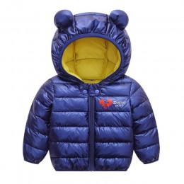 Jesień zima Baby Boy Girl Jacket 2019 nowe chłopięce ubrania dla dzieci z kapturem płaszcz zimowy dla dzieci