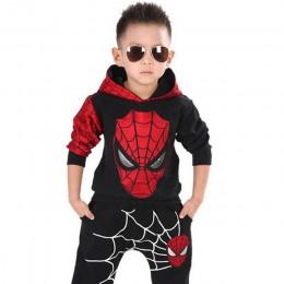 Odzież dziecięca jesienno-zimowa maluch chłopcy odzież ustawia Spiderman ubrania kostiumy dla dzieci dla chłopców odzież garnitu