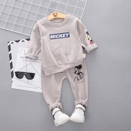 2020 wiosna jesień Boys Baby ubrania T-shirt i spodnie 2 sztuk bawełna dziewczyny garnitury zestawy odzieżowe dla dzieci maluch