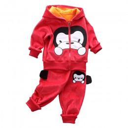 Baby boy ubrania ciepła watowana garnitur dorywczo ubrania sportowe dziecko pająk garnitur dla mężczyzn ubiór na przedstawienie