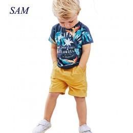 2019 Boys Baby ustawia letnie chłopcy ustawia ubrania T shirt + krótkie spodnie bawełniane sportowe nadrukowane litery zestaw ub
