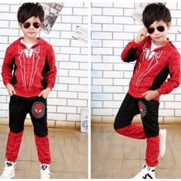 Nowe zestawy ubrań dla chłopców Spiderman bawełniany strój sportowy dla chłopców ubrania wiosna Spider-Man kostiumy Cosplay zest