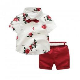 Gorąca wyprzedaż! 2019 lato styl dzieci odzież ustawia boys Baby dziewczyny t shirty + spodenki spodnie strój sportowy ubrania