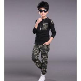Dzieci odzież ustawia dla chłopców kamuflaż garnitury sportowe wiosna dresy 2019 nastoletnich chłopców odzież sportowa 4 6 8 9 1