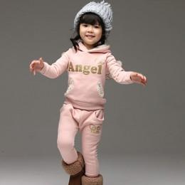 V-TREE zestaw ubrań dla dzieci polar strój sportowy dla chłopca zimowe garnitury dla maluchów dla dziewczynek skrzydła dla dziec