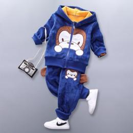 Ubranka dla chłopca bawełna ciepła dwuczęściowa odzież sportowa dla dzieci cartoon Batman komplet kostiumów dla chłopca