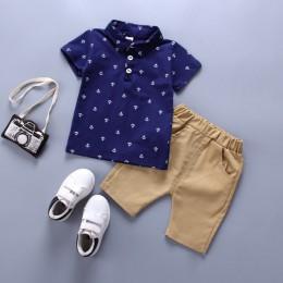 2019 letnia nowa odzież ustawia chłopiec bawełna casual odzież dziecięca Boys Baby t-shirt + spodenki spodnie 2 szt. Zestawy ubr