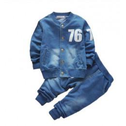 BibiCola zestawy ubrań dla chłopców dla dzieci wiosna jesień Sport garnitur dla dzieci zestaw ubrań dla małych chłopców dżinsowy
