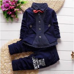BibiCola wiosna jesień chłopcy odzież zestaw zestawy ubrań dla dzieci dzieci chłopcy dorywczo bawełna 2 szt kurtki + spodnie chł