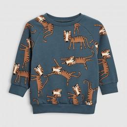 Little maven 2019 jesień chłopcy markowe ciuchy dzieci bluzy i bluzy chłopiec bawełna nadruk zwierzęta dzieci bluzy z polaru C01