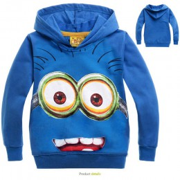 Marka niemowlę chłopcy ubrania cartoon anime rysunek dzieci bluzy dzieci odzież chłopcy dziewczęta jesień minion sweter