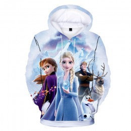 Nowy 2019 dzieci Boys Baby dziewczyny Toddlers Frozen 2 Elsa Anna nadrukowane bluzy Cartoon dres odzież dla dzieci śliczne bluzy