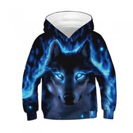 3D nadruk wilka chłopcy bluzy z kapturem płaszcze wiosna jesienna odzież wierzchnia dzieci bluza z kapturem ubrania dla dzieci z