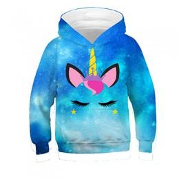 3-12 lat 3D nadruk lew chłopcy bluzy nastolatki jesienna bluza z kapturem dla chłopców ubrania dla dzieci z długim rękawem pulow