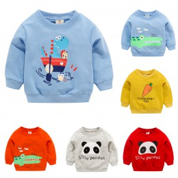TELOTUNY jesień zima dzieci bluzy maluch Kid dziewczynka chłopiec ubrania z długim rękawem Cartoon koszulka z nadrukiem topy Z02