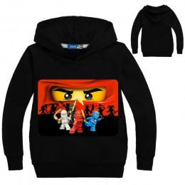 3-14 lat maluch chłopiec bluza maluch Legoes dzieci bluzy Ninjago koszula z długim rękawem superbohaterowie sweter Jongens Kledi
