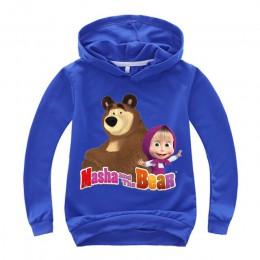 Jesień masza dzieci chłopcy dziewczęta niedźwiedź bluza z kapturem kreskówka 3D bluza z kapturem topy ubrania
