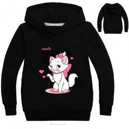 3-16 lat Marie ubrania dla kota z długim rękawem bluzy dla dziewczynki arystokraci bluza z kotem Cute Baby Bomber Bobo Jacket