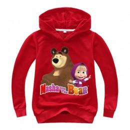 2019 wiosna jesień masza i niedźwiedź dziecięca bluza z kapturem chłopcy bluza maluch dziewczyna bluza kostium na boże narodzeni