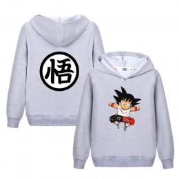 Lolocee kids Goku bluza z kapturem z motywem kreskówkowym chłopiec dziewczyna anime zabawna bluza nowe jesienne topy bluzy dziec