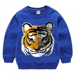 Dzieci chłopcy bluzy dziecko bluza z cekinami jesień dzieci bluza pullover płaszcz 100% bawełna z długim rękawem chłopiec odzież