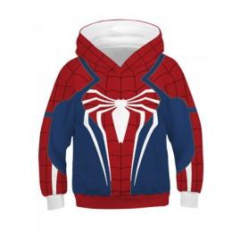 Big Boy Spiderman bluzy wiosenna z kapturem bluza dla chłopców Avengers 4 różnorodność Spider-man dzieci płaszcze dzieci pulower