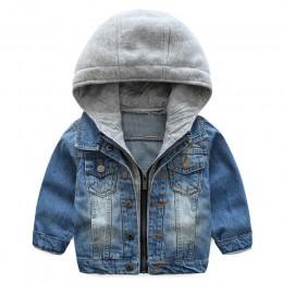 Boys Baby Denim Jacket 2019 jesienne zimowe kurtki dla chłopców płaszcz dziecięca odzież wierzchnia płaszcze dla chłopców odzież