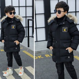 Kurtka zimowa dla dzieci chłopiec Park 12 odzież dziecięca 13 chłopców 14 odzież zimowa 15 kurtka 16 grubych pogrubione bawełną-