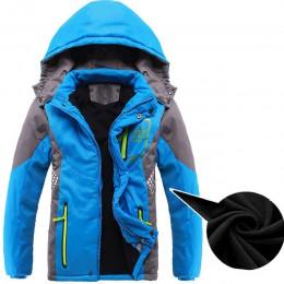 Dziecięca odzież wierzchnia ciepły płaszcz sportowe ubrania dla dzieci wodoodporne wiatroszczelne zagęścić chłopcy dziewczęta wy