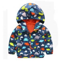 80-120cm śliczne dinozaur wiosna dzieci płaszcz jesień kurtka dla dzieci chłopcy odzież wierzchnia płaszcze aktywny chłopiec wia