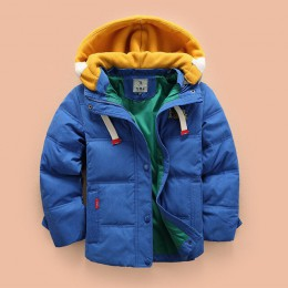 Abreeze dzieci w dół i parki 4-10T zimowa dziecięca odzież wierzchnia chłopcy dorywczo ciepła kurtka z kapturem dla chłopców jed