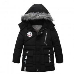 Kurtki dziecięce chłopcy stripe Winter down coat 2019 płaszcz zimowy dla dzieci dzieci ciepłe kurtki z kapturem płaszcz dla 2-7