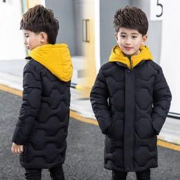 Chłopcy bawełniany płaszcz 2019 nowych dzieci męskie zimowe ocieplane kurtki bawełniane dziecko duże dziecko fałszywe dwie baweł