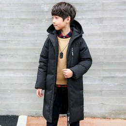 -30 stopni odzież dla dzieci chłopiec ubrania ciepła zimowa puchowa kurtka bawełniana z kapturem płaszcz nastolatek zagęścić odz
