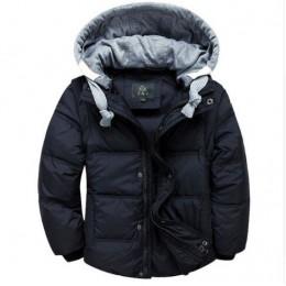 Chłopcy zimowe kurtki odpinane dzieci ciepła długa parka kamizelka dziecięca z kapturem płaszcze dla dzieci grube termiczne outd