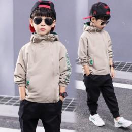 Chłopcy odzież dziecięca wiosna solidna kurtka dla nastoletnich chłopców płaszcz na co dzień dziecko topy 3-111 Y dzieci aktywna