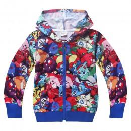 Pokemon chłopcy i dziewczęta go 2017 wiosna jesień rozpinane bluzy bluzy Moana płaszcz dziewczyny jesień ciepłe kurtki ubrania d