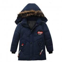Chłopięca kurtka puchowa 2018 zimowa ciepła chłopięca gwiazda z kapturem nosić dół kurtki dziecięca odzież wierzchnia dziecięca