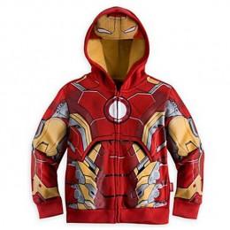 LZH 2019 wiosna jesień chłopcy kurtka dla chłopców Spiderman Avengers Iron Man kurtka z kapturem dzieci ciepłe kurtki płaszcz ub