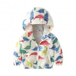 Jesienne kurtki dla dzieci nowy 2Y 6Y nadruk kreskówkowy dla niemowląt chłopcy i odzież dla dziewczynek płaszcze kurtki z kaptur