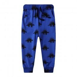 Skoki metrów zwierzęta chłopcy spodnie spodnie dziecko 2019 ubrania dinozaury spodnie dresowe dla 2-7t lat chłopcy pełne spodnie